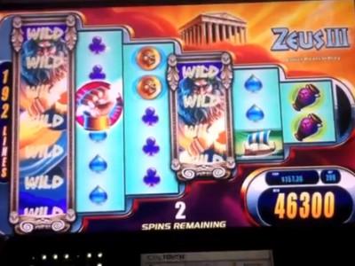 Gros gain sur la machine à sous live Zeus III